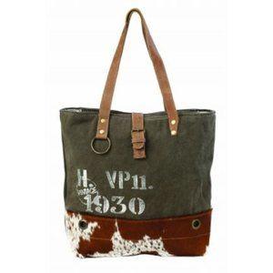 Myra Vintage 1930 Canvas Tote Bag